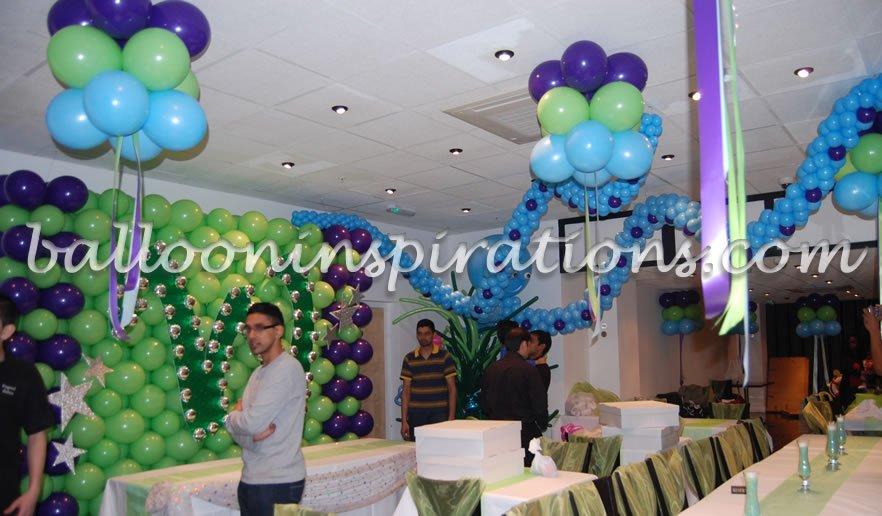 Undersea Themed Balloon Party Decorations