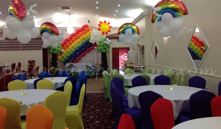 Themed Birthday Rainbow Colours 2 Party Decorations